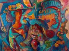 """Orest Vladimirovich Sleshinsky (1930-2008) """"Autumn Day"""""""