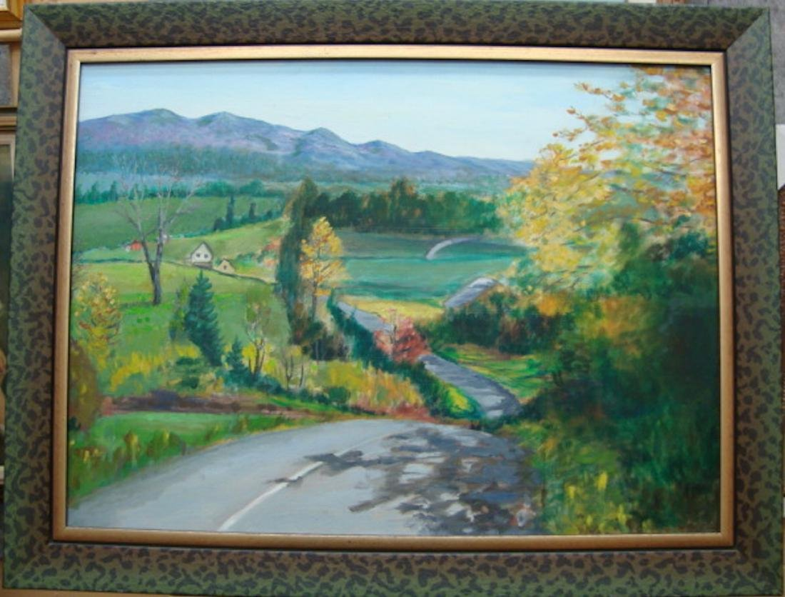 Landscape, Oil On Canvas . NO RESERVE