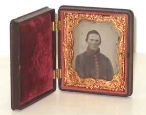 203: Civil War  Confederate Daguerreotype Gutta Percha