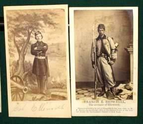 209: Civil War Photo Ellsworth Brownell Zouaves CDV  Me