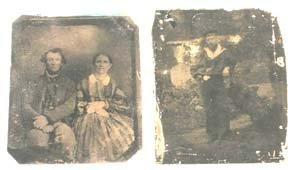 217: Civil War Union Sailor Confederate Soldier Photo L