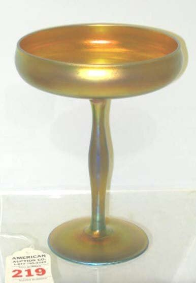 219: Art Glass Steuben Aurene Compote