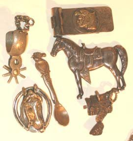 308: Western Old West Indian Jewelry Lot - 9