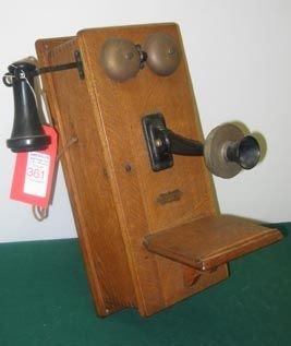 361: Antique Wall Phone Oak