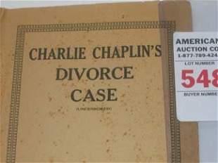 Charlie Chaplin Movie Star Divorce Case Documents