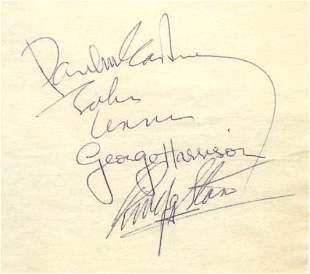 Rock and Roll Music Beatles Autograph