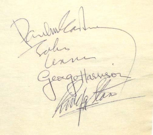 549: Rock and Roll Music Beatles Autograph