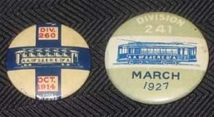 Transportation Railroad Union Pin Lot 1914