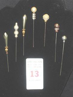 13: Hat Pin Lot Vintage antique