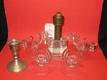 164: Non-Electric Lighting Candlestick Lot