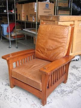225: Arts Craft Stickley-style Arm Chair