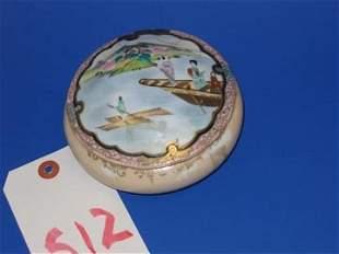 Oriental Porcelain Powder Jar