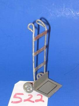 Vintage Railroad Toy Luggage hand Cart
