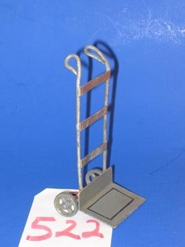 522: Vintage Railroad Toy Luggage hand Cart