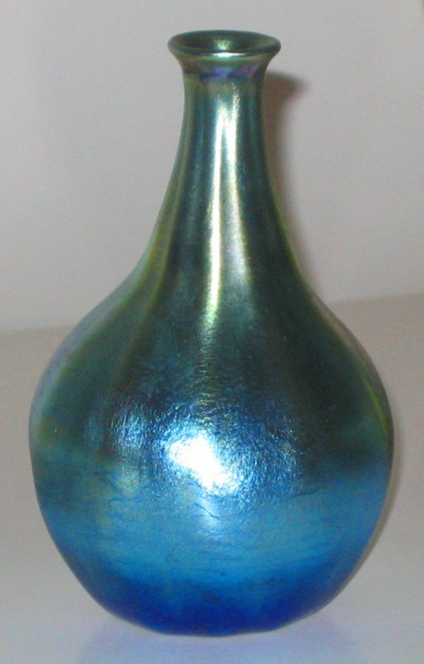 420: Antique Tiffany Glass Vase