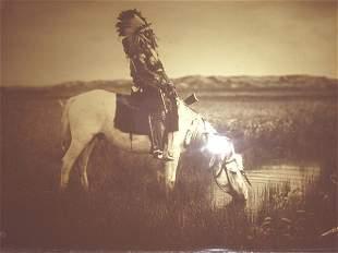 Curtis Goldtone Orotone Plains Indian Photo 1905