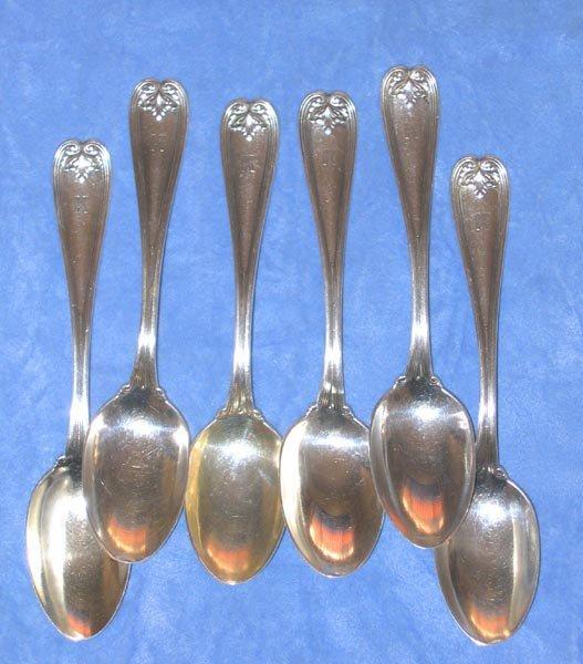 162: Tiffany Sterling Spoon Set 1895