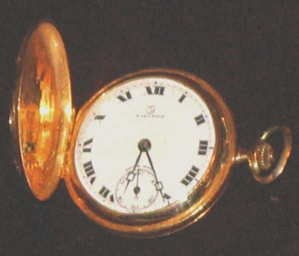 168: 14k Gold Pocketwatch 1915