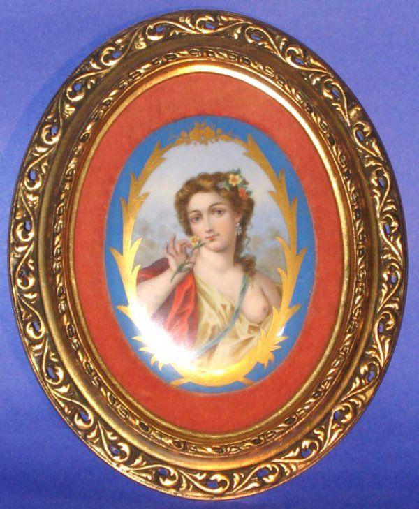 Sevres Porcelain Portrait Art Plaque