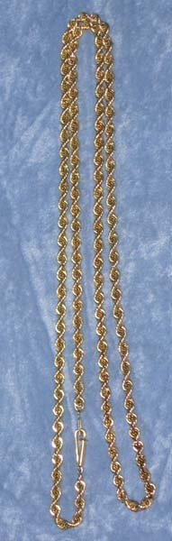 174: 14k Gold Rope Necklace