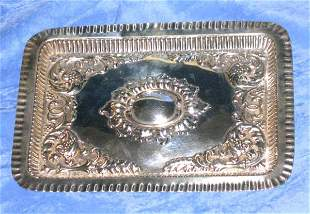 Antique London 1902 Sterling Silver Tray