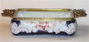 178: Art Glass Wave Crest Tray Cobalt