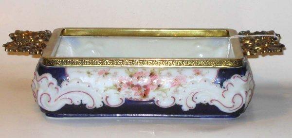 178: Art Glass Wave Crest Tray Cobalt