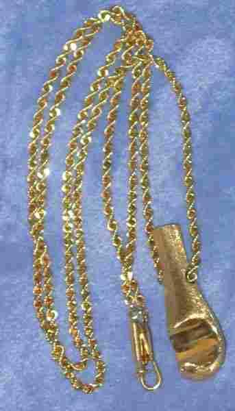 14k Gold Hawaiian Palaoa Pendent