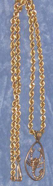 14k Gold Scorpio Pendant