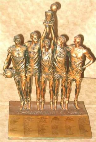 LA Lakers Basketball Champion Sculpture
