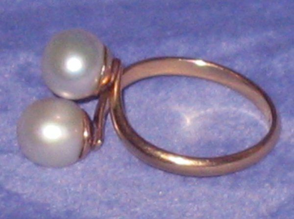 14k Gold Pearl Ring