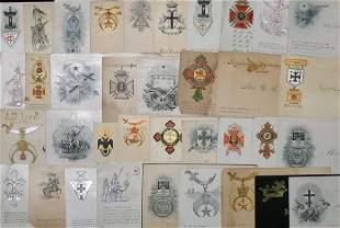 Knights Templar Calling Card Lot