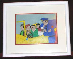 Animated Cel Archie & Gang