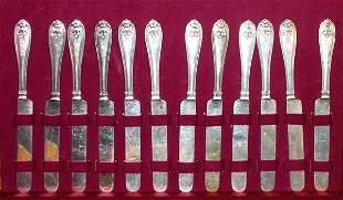 Antique Silver Gorham Coin Knives