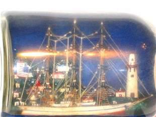 1927 Ship in Bottle Aurora Lighthouse