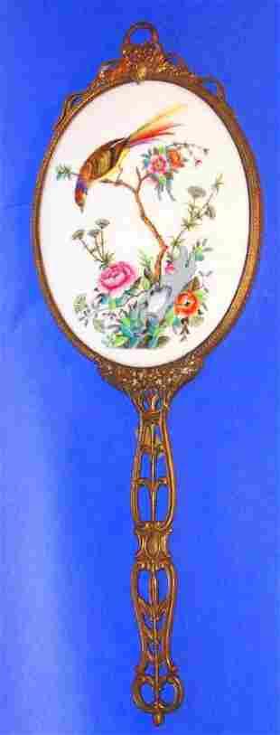 1880 French Bronze HP Mirror