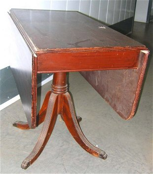 Child Size Mahogany Duncan Phyfe Drop Leaf Table Needs May 27 2020 Apple Tree Auction Center In Oh