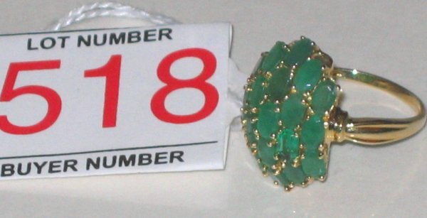 518: Gold Emerald Ring
