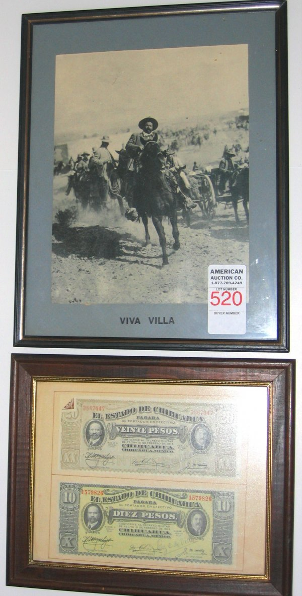 520: Pancho Villa Photo AG Currency
