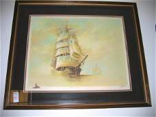 661 Art Litho Print Maritime J Kelly Signed