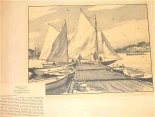 Gordon Grant Pen Ink Ships