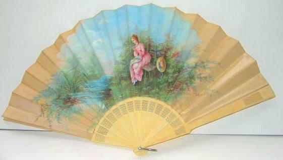 10: Girard Hand Painted Fan