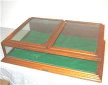 20: Antique Oak Display Case