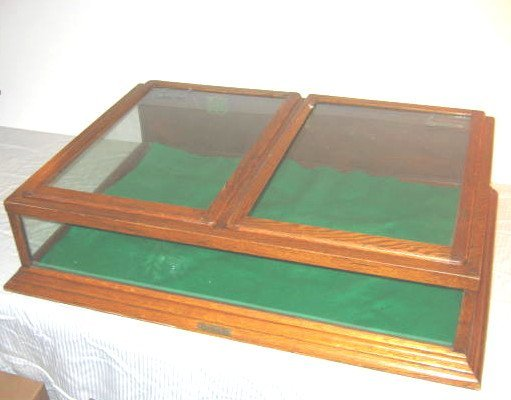 20: Antique Oak Display Case