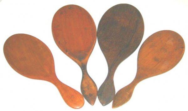 106: Shaker Wood Hand Mirror Lot