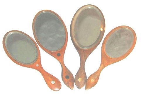 106: Shaker Wood Hand Mirror Lot - 2