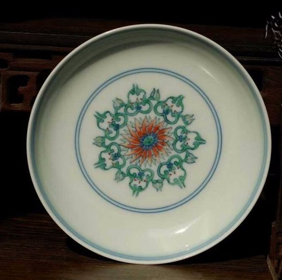nice collection of Chinese docai porcelain floral plate