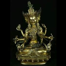 Fine gilt bronze figure