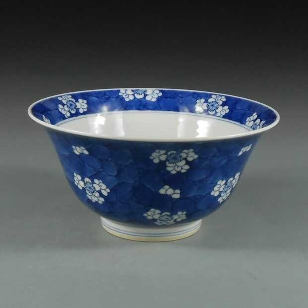 19th century Chinese blue and white porcelain  bowl