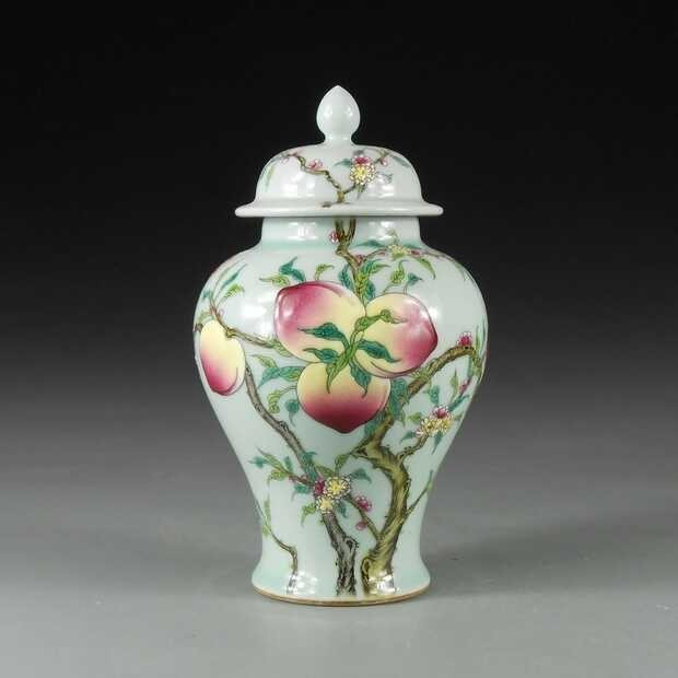 Rare Chinese famille rose porcelain covered jar